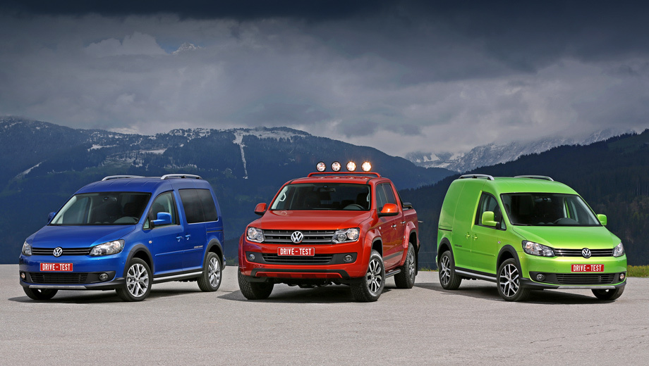 Stare at the special models Volkswagen Caddy and Amarok