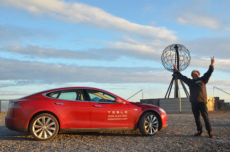 In Europe sold the first electric car Tesla
