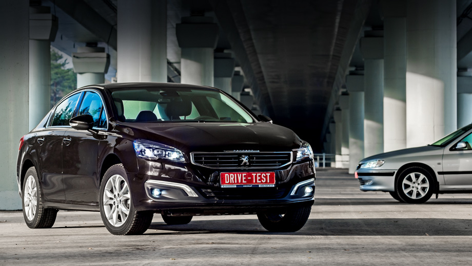 Looking from the past to the updated sedan Peugeot 508