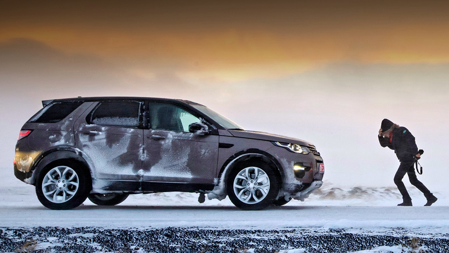 You're going against the wind on the crossover Land Rover Discovery Sport