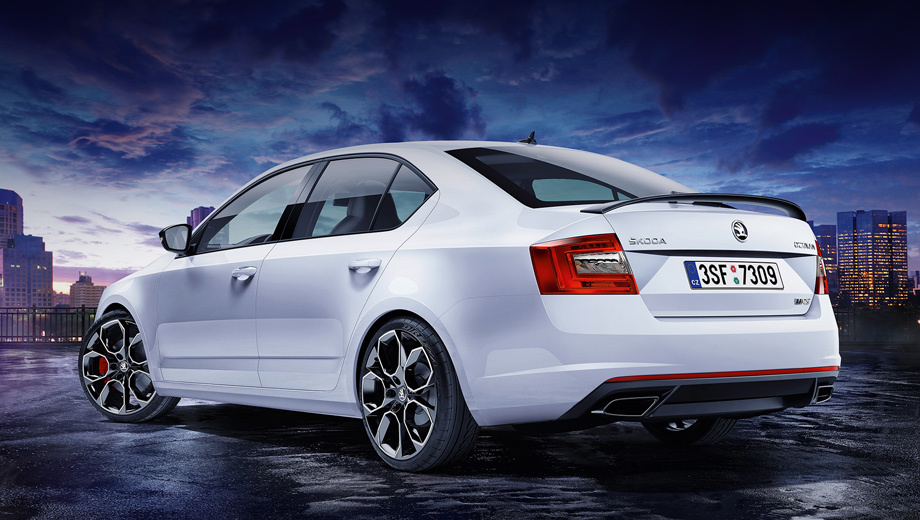 The lift back Skoda Octavia RS added power