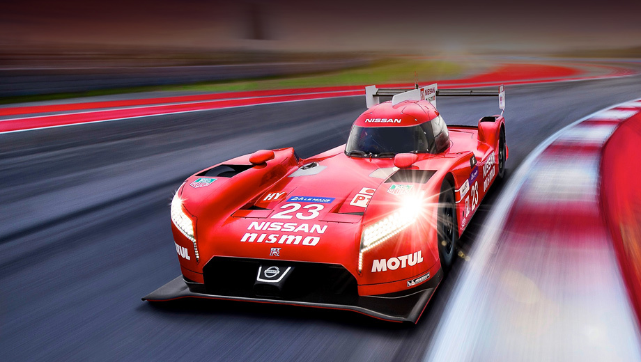 The prototype of the Nissan GT-R Nismo LM was surprised with front-wheel drive