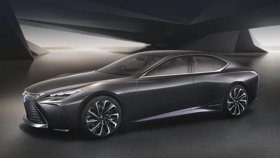 The concept Lexus LF-FC showed the face of the future LS sedan