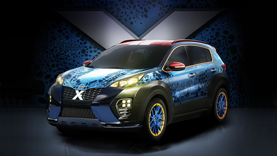 """A special performance of the crossover Kia Sportage devoted to """"X-Men"""""""