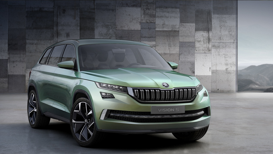 The show car Skoda VisionS reminded Tiguan hybrid