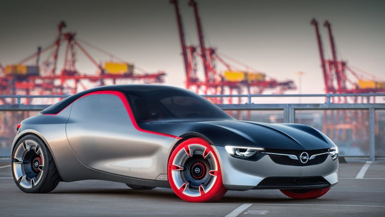 Updated: concept coupe Opel GT has opened unusual doors